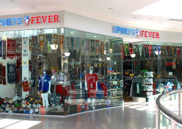 tenant improvement example sports fever store