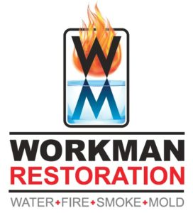 Workman Restoration Logo - water, fire, smoke, mold